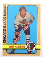 1972-73 Keith Magnuson Chicago Black Hawks 71 OPC O-Pee-Chee Hockey Card P024