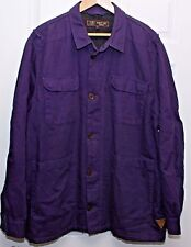 BARBOUR DEPT B field jacket chore coat linen cotton w/ wool lining XXXL 3XL XL