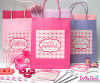 PERSONALISED PINK PAMPER BIRTHDAY PARTY PRE-FILLED GIFT BAGS - OLDER GIRLS
