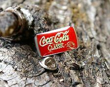 1987 Can of Classic Coca-Cola Soda Pop Coke Red Pin Pinback Silver Tone Metal