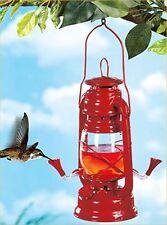 Humming Bird Feeder Nectar Plastic Hanging 2 Feeding Stations Lantern Looking