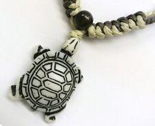 Buffalo Bone White Turtle Pendant Adjustable Cord Necklace #30192-09 (QTY 2)