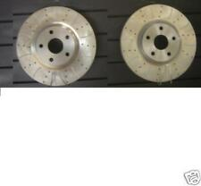 SUPRA TWIN TURBO DRILLED GROOVED BRAKE DISCS 323X28MM