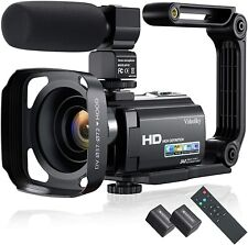 2021 New Upgraded Video Camera Camcorder, Ultra HD 1080P 30FPS 24MP Vlogging Cam