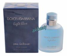 Dolce&Gabbana Light Blue Eau Intense 3.4oz/100ml Edp Spray For Men New In Box
