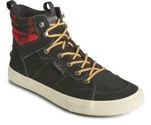 Sperry Men's Striper Storm Hiker Boot - Black Multi Plaid NWB