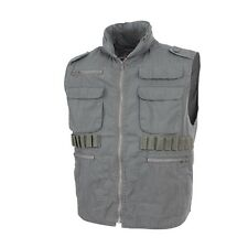 Olive drab green vintage Ranger type outdoor vest with hood Mens size M NWT