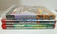 Uncharted Video Game Lot PS3 PlayStation Games Lot: of 3.