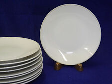 Rosenthal Modern White Gold Band 10 Bread Butter Plates