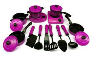 13Pcs Kitchen Cooking Utensils Pots Pans Accessories Kids Play Child Toy
