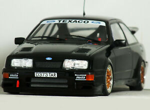 1:18 Custom Gr.A FORD SIERRA 3dr RS COSWORTH RS500 Black MODIFIED TUNING Code 3