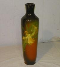 Antique Roseville Rozane Pottery Tall Vase Artist Signed