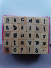 NEW STUDIO G RUBBER STAMPS LOWERCASE ALPHABET  1905