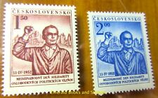 EBS Czechoslovakia 1952 - Struggle against Fascism - Michel 719-720 MNH**