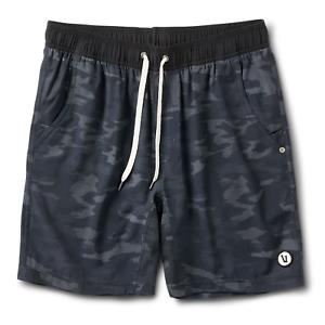 NWT Vuori Kore Shorts Black Camo Mens Size Small Lined