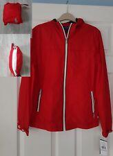 Ralph Lauren Boy red Raincoat anorak Size 14 16 Years L coat NWT PACKABLE jacket