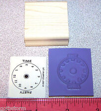 Stampin Up Party Punch Stamp Party Time Design Clock Face What Time to come