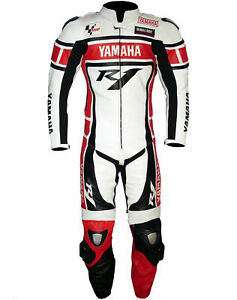 YAMAHA Racing Biker Leather Suit CE Motorcycle/Motor bike Leather Suits 1&2-Piec