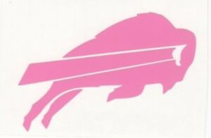 Pink Buffalo Bills helmet car window RTIC decal sticker up to 12 inches