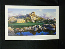 Larry Dyke Signed Number One At The Boulders Golf Limited Edition Lithograph