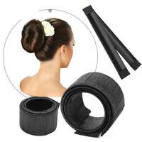 2Pcs Women's Hair Bun Maker French Twist Hair Fold Wrap Snap Donut Hair Tools