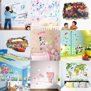 Kinderzimmer Wandtattoo Mädchen Junge Wandsticker Wandaufkleber XXL Tiere Baby