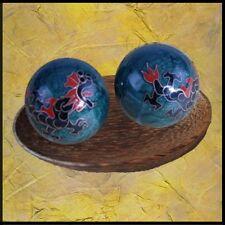BERK Esoterik Meditation Qi-gong-kugeln - Drache und Phönix blau
