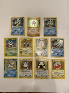 HOLO Base Set Jungle 11 Card Lot Mint-LP Foreign Pokemon German Italian French