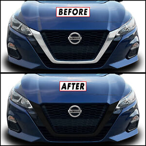 Chrome Delete Blackout Overlay for 2019-22 Nissan Altima Front Grille Trim