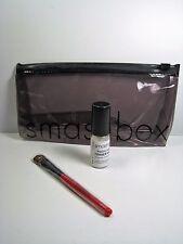 Smashbox Set of 3 Clear Makeup bag, Primer Water & Shadow Brush NEW