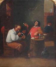 FERDINAND VAN APSHOVEN-German/Belgian Realist-Original Oil-Alehouse Scene