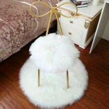 Thicken Faux Fur Wool Cushion Plush Chair Seat Set Pad Carpet Mat Warm Round New