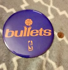 "Vintage 1970's Washington Bullets NBA Button Pin Hanging Picture 6"" RARE"