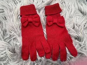 Gymboree Girls Red Cotton Blend Gloves Size 5-7