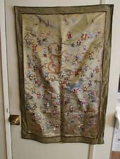 Vintage Japanese Embroidered Silk Tapestry Picture