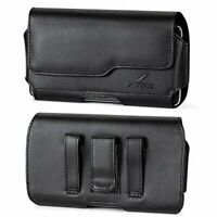AGOZ Leather Belt Clip Pouch Holster Case COMPATIBLE with Otterbox for iPhone