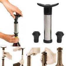 Wine Bottle Vacuum Saver Sealer Preserver Pump w/ 2 Stopper Reusable Portable.