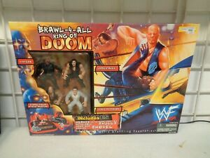 1999 JAKKS PACIFIC WWF BRAWL 4 ALL WRESTLING RING OF DOOM FIGURE BOX SET NEW