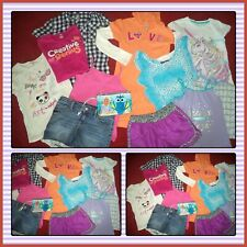HUGE LOT SUMMER CLOTHES SHORTS TOPS GYMBOREE EPIC THREADS OP GIRLS SIZE L 10-12