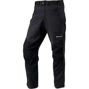 Montane Mens Terra Walking Hiking Pants Trousers - Regular Leg - Black
