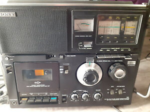 Rare Radio Sony cf-950s 5 Bandes cassette-corder SW Dual Conversion Systèm