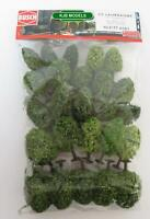 BNIB BUSCH 6587 N GAUGE 25 DECIDUOUS TREES WITH ROOTS / BASES (35mm - 55mm High)