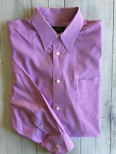 Men's Banana Republic Long Sleeve Button Shirt Lavender W/White Stripes Medium