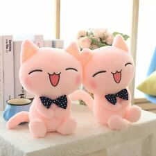 Pink Cat Doll Cushion Soft Stuffed Plush Pillow Cute Sofa Home Decor Toy Gift