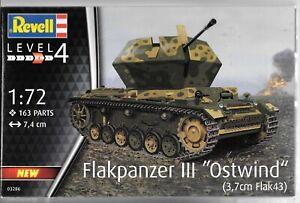 Revell Germany 3.7cm Flak 43 Flakpanzer III Ostwind German Tank in 1/72 3286 ST
