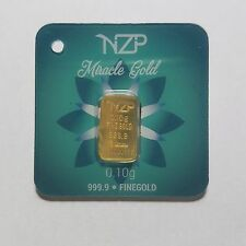 0.1 GRAM GOLD BAR FROM NZP GOLD 999.9 PURE NZP03