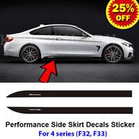 2pcs M Performance Side Skirt Sill Decal Vinyl Sticker for BMW 4 Series F32 F33