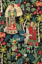ALEXANDER HENRY cotton fabric-FRIDA'S GARDEN-Frida Kahlo, Mexican artist-1 yard
