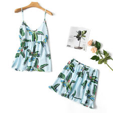 Women Cotton Floral Lingerie Sleepwear Cami Tank Top Shorts Pajamas Nightwear Pj