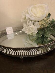 28cm silver mirror tray